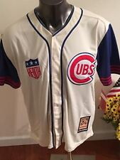 Chicago Cubs #14 Ernie Banks (Mr. Cub) Throwback Jersey Cooperstown Collection