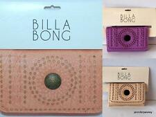BILLABONG WALLET PURSE CLUTCH NEW DEVINE Faux Leather COLOURS TRIFOLD Logo Surf