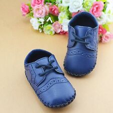 Infants Baby Boy Girl Soft Sole Crib Shoes Kids PU Leather Prewalker Shoes 0-12M