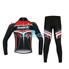 DS Cycling Bike Outdoor Sport Fleece Long Bicycle Sleeves Jersey+4D Pants Sets