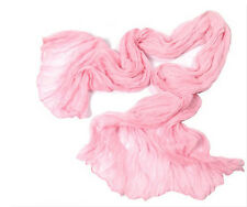 Crinkle Womens Long Candy colors Neck Scarf Wraps Shawl Stole Soft Scarves