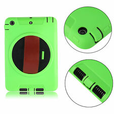 New 360° Rotating Rugged Shockproof Protector Leather Case Cover for iPad F5