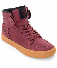 Supra Vaider Burgundy & Gum Boys Skate Shoes