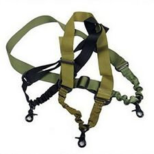 Tactical Single one 1 Point Sling Rifle Gun Sling Bungee - Adjustable UI