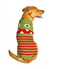 Chilly Dog Handmade Little Monster 100% Organic Wool Dog Sweater S/XL Ship FREE