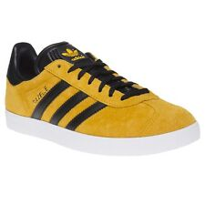 New Mens adidas Yellow Gazelle Suede Trainers Retro Lace Up