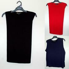 EXTRA BLACK PEPPER Womens KINNERSLEY TANK TOP BA835 BNWT RED BLACK INK Poly Cot