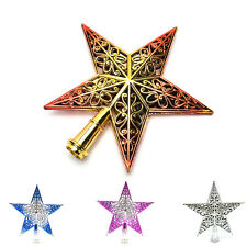 Christmas Tree Star Topper Ornament Party Decoration Xmas Decorations Stars EF