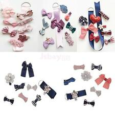 Hot Sale Toddle Girls Hair Clips Set with Grosgrain Ribbon Holder Sweet Gift