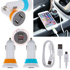 Dual USB Car Cigarette Lighter Charger Voltage Tester&Micro USB Cable For Phones