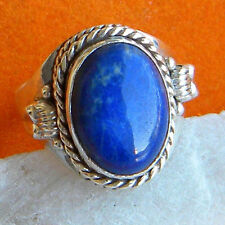 LAPIS LAZULI SOLID 925 PURE STERLING SILVER HANDMADE RING CUSTOM SIZE 5,6,7,8,9