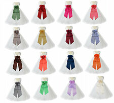 IVORY FLOWER GIRL DRESS SPECIAL SASH PAGEANT TULLE 12-18M 2 2T 3T 4 5T 6 6X 8 10