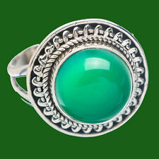 GREEN ONYX SOLID 925 STERLING SILVER HANDMADE NEW RING CUSTOM SIZE 5,6,7,8,9