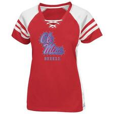 Women's Majestic Fitted Ole Miss Rebels Jersey Tee
