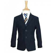 Boys Formal Gabardine Navy Blue Blazer Jacket, Page Boys Wedding Prom Jacket