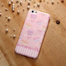 Ultra Slim 3D Printed Emboss Macaroon Pattern TPU Case New For iPhone 6 6S 6Plus
