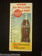 "1960 - COCA-COLA INK BLOTTER -  ""OVER 60 MILLION A DAY"" - FREE SHIPPING (a4280)"