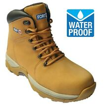 REDUCED Waterproof Safety WORK Boots Nubuck Leather Steel Cap DEFIANCE UK 11-13