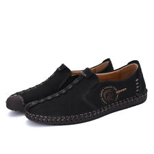Fashion Britsh Men's Casual Running Freely Suede Sneakers Slip On Loafer Shoes