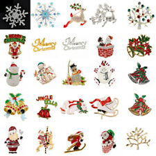 various styles crystal Pearl Brooch Pin christmas party wedding xmas Jewelry
