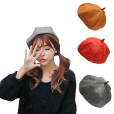 Winter Warm Solid Artist Hat Fashion Women Ladies Grace Beret Beanie Accessory K