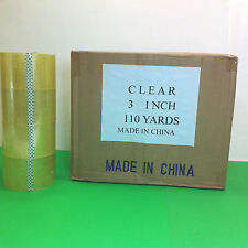 """3"""" x 110 Yards (330 feet) Carton Sealing Clear Acrylic Packing Tape  2 Mil Thick"""