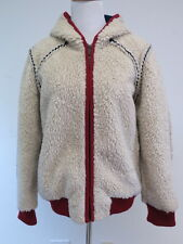 Chanel Sherpa Hooded Jacket with Inside-Out Seams Cream Size 40 Barely Worn