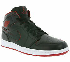 NEW NIKE Air Jordan 1 Mid BG Shoes Children Sneaker Shoes Black Kids SALE