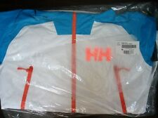 New Helly Hansen Mens Medium Large Ridge Shell Jacket Ski Recco 62542 White Blue