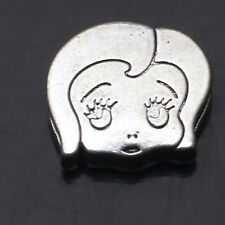 2/4/10/20 Pcs Shy Girl Tibetan Silver Charms Finding DIY Spacers