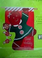 """Gingerbread Girl  Appliqued  Flag Large  28"""" x 44"""" Holiday- Evergreen"""