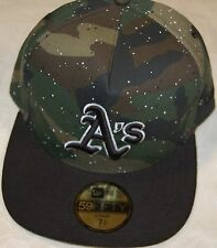 Oakland ATHLETICS  Camo/Black New Era 59FIFTY Fitted Caps MLB AC On Field Hats