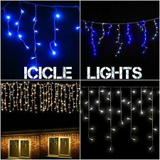 19M 960 LED Christmas Icicle Snowing Fairy Lights Outdoor Decoration Xmas Light