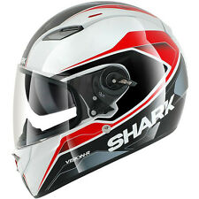 Shark Vision-R S2 Syntic Helmet White/Black/Red with Pinlock Shield