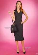 Stop Staring Nyla Fitted Dress in Black NWT vintage inspired stretch pencil dres