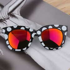 New Fashion Colorful Sunglasses Dots Thick Frame Colorful Film/Gray Lenses O6