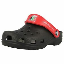 Boys Crocs Black/Red Croslite Clog Sandals Style CAYMAN NEC