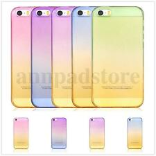 New Rainbow Slim Ombre Clear Soft TPU Silicone Gel Iphone Case Cover skin Hot