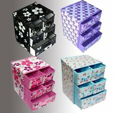3-Layer 5-Drawer Non-woven Cosmetic Box Makeup Organizer Tab Stand Holder AG