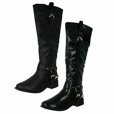 Ladies Spot On Riding Style Knee High Boots Style F50125