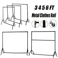 Portable Heavy Duty Rail 5 6ft Clothes Garment Dress Hanging Display Stand Rack