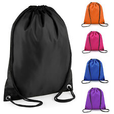 Unisex Waterproof Drawstring RuckSack Backpack Swim Traveling Gym Sports PE Bags