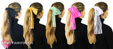 PACK OF 1980'S LACE HEADBANDS NEON HAIR HEAD SCARF FANCY DRESS DANCE SCHOOL LOT