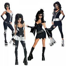 Kiss Costumes Adult Female 70s Rock Star Group Halloween Fancy Dress