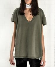 ONE TEASPOON TSHIRT Sz XXS,XS,S VINTAGE EXTREME VINT V NECK TEE KHAKI TOP NWT