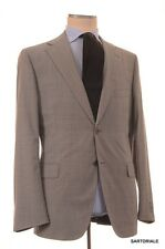 BELVEST Made In Italy Hand Made Solid Gray Super 130's Wool Suit NEW