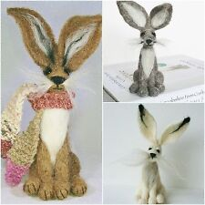 2 Hare Needle Felting Kits Special Offer - For beginners onward - 15% saving