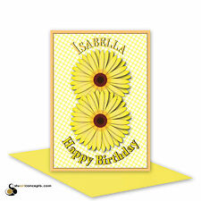 8th birthday card for girl, edit name 8 happy birthday card for her,8 bday card