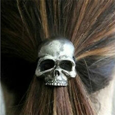 Punk Skull Hair Tie Cuff Wrap Ponytail Holder Hair Band Rope Accessory