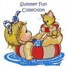 SUMMER FUN COLLECTION - MACHINE EMBROIDERY DESIGNS ON CD